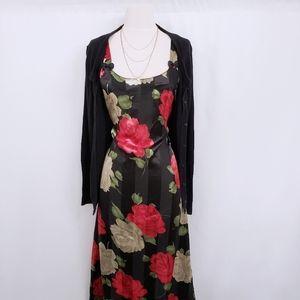 Other - Sold - Floral Rose Slip Midi Dress